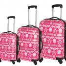 Pink Crown Collection Blingaliscious 3 Piece Polycarbonate Luggage Set