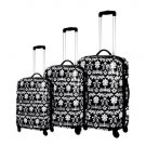 Black Crown Collection Blingaliscious 3 Piece Polycarbonate Luggage Set