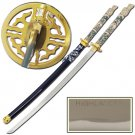 Highlander Adrian Paul Blue Closed Mouth 1045 Carbon Steel Katana