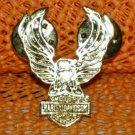 "Harley Davidson ""Classic Eagle 2"" Logo Raintree Buckles & Jewelry Inc. Collectible Gold Plated Pin"