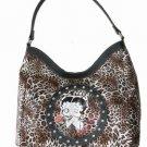 Betty Boop Leopard Large Handbag