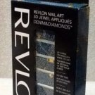 Revlon Nail Art 3d Jewel Appliques Denim & Diamonds- 02 It's Riveting