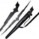 Batman Dark Knight Bat Lightning Bolt Sword with Sheath