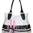 Elvis Pink Fifties Synthetic Leather Large Handbag