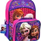 Disney Frozen Anna and Elsa Backpack and Lunchbox Set