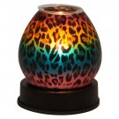 Rainbow Leopard Print Touch Lamp Style Glass Oil Warmers
