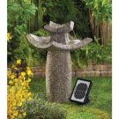 Graceful Asian Temple Solar Water Fountain