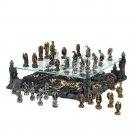Dragon Warriors Kingdom Battle Gravesite Premium 3-D  2 Tier Chess Set