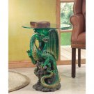 Dragon Accent Table With Glass Tabletop