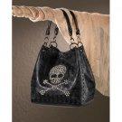 Breezy Couture Rockin' Skull Tote Bag- Black