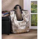 Breezy Couture Hollywood Golden Tote Bag- Gold