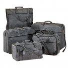 Luxurious Jute Tweed 5-Piece Luggage Set