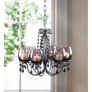 Black Elegant Chandelier Candleholder