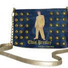 Elvis Presley Gold Lame Studded Denim/ Synthetic Leather 4 in 1 Purse