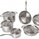 BergHOFF Earthchef Professional Copper Clad Carbon Steel 10-Piece Cookware set