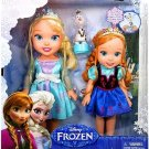 Disney Frozen Deluxe Toddler Elsa and Anna Doll Set