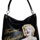 Marilyn Monroe Forever Beautiful Large Handbag- Black
