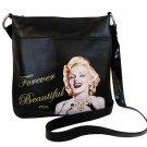 Marilyn Monroe Forever Beautiful Messenger Bag- Black