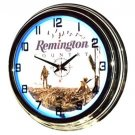 "Remington Country 17"" Blue Neon Wall Clock"