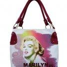 Marilyn Monroe Technicolor Splash Medium Tote- White