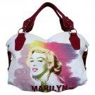 Marilyn Monroe Technicolor Splash Extra Large Handbag- White