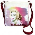 Marilyn Monroe Technicolor Splash Messenger Bag- White