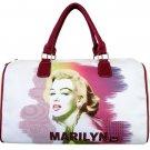 Marilyn Monroe Technicolor Splash Overnight Duffle Bag- White