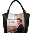 Elvis Synthetic Leather This Land is Mine Large Shopping Tote