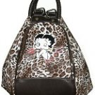Betty Boop Synthetic Leather 4 in 1 Bag- Leopard Print