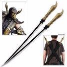 Mortal Kombat Scorpion Stinger Replica Dual Sword Set with Harness Sheath
