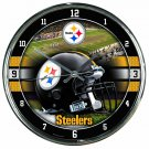 "Pittsburgh Steelers Retro Classic Trendy 12"" Round Chrome Wall Clock"