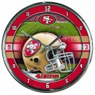 "San Francisco 49ers Retro Classic Trendy 12"" Round Chrome Wall Clock"