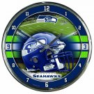 "Seattle Seahawks Retro Classic Trendy 12"" Round Chrome Wall Clock"