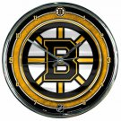 "Boston Bruins Retro Classic Trendy 12"" Round Chrome Wall Clock"