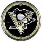 "Pittsburgh Penguins Retro Classic Trendy 12"" Round Chrome Wall Clock"