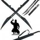 Deathstroke Inspired Secret Agent Double Ninja Swords with Sheaths
