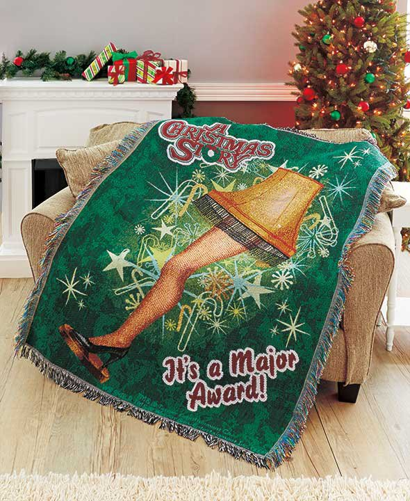 """A Christmas Story 48"""" x 60"""" Classic Holiday Tapestry Throw"""