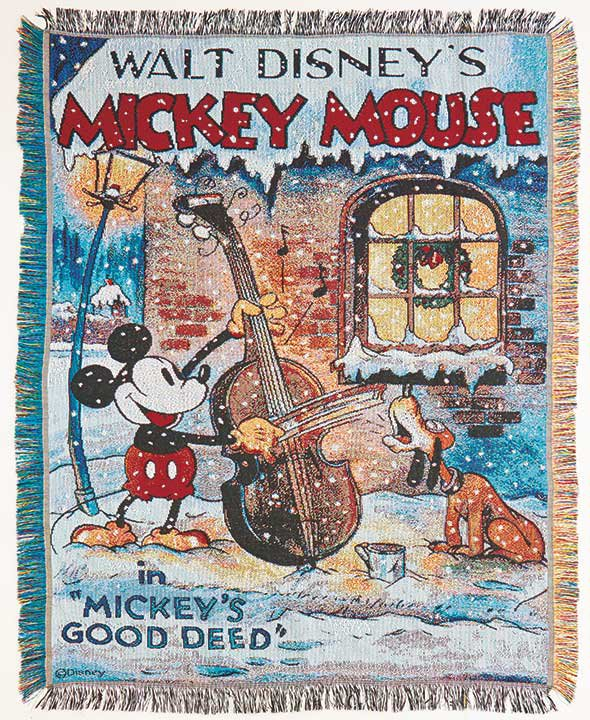 "Walt Disney's Mickey Mouse 48"" x 60"" Classic Holiday Tapestry Throw"