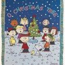 "Peanuts O Christmas Tree 48"" x 60"" Classic Holiday Tapestry Throw"