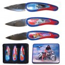 Motorcycle Collector Knife Set of 3