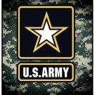 "US Army Logo Signature Collection 50"" x 60"" Fleece Throw Blanket"
