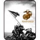"""Marines Iwo Jima Signature Collection 50"""" x 60"""" Fleece Throw Blanket"""