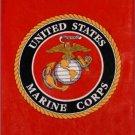 "Marines Logo Signature Collection 50"" x 60"" Fleece Throw Blanket"