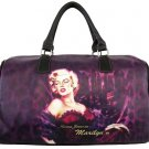 Norma Jeane as Marilyn Monroe Overnight Bag- Purple