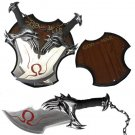 God of War Kratos Short Blades of Chaos with Display Plaque