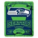 """Seattle Seahawks 50"""" x 60"""" Marquee Fleece Blanket"""