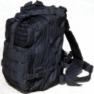 Wild Wood Black Tactical Military Style Backpack w/ Molle