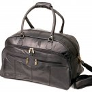 Dakota Leather Co. 20 inch Solid Leather Cabin Carry on Travel Bag Black