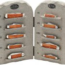 Case XX Limited Edition The Ten Commandments 10 Knife Set Stone Tablet Replica Display