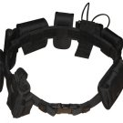Black Law Enforcement Modular Tactical Belt with Pockets and Holsters